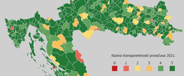Predstavljeni rezultati transparentnosti proračuna lokalnih/regionalnih jedinica