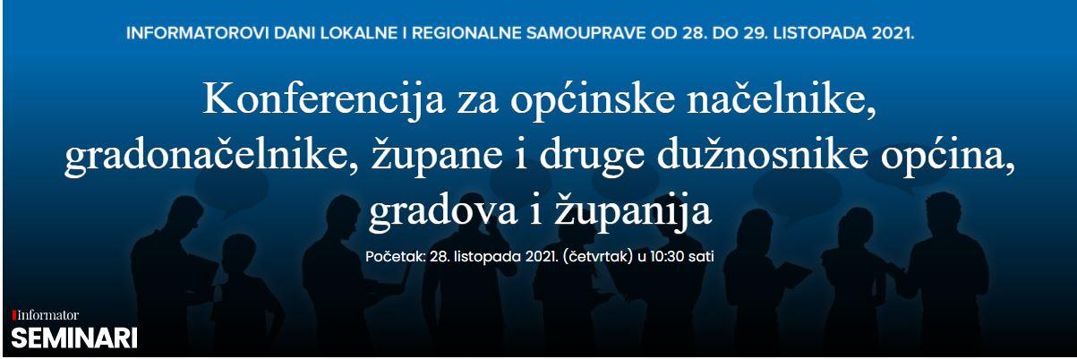 INFORMATOROVI DANI LOKALNE I REGIONALNE SAMOUPRAVE 2021.